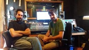 Con Rodrigo Pereyra en Estudios Monsarca. Ostende (2016)