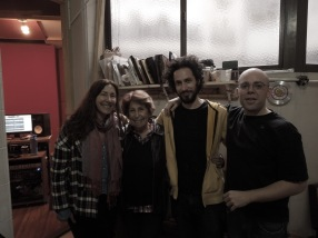 Grabación del disco de mi alumna Maria Esther Cortés en Eleven Palace con Juan Vidauli